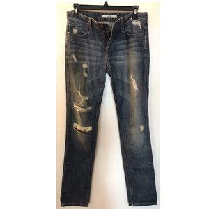 Joe's distressed boyfriend jeans relaxed fit, 25